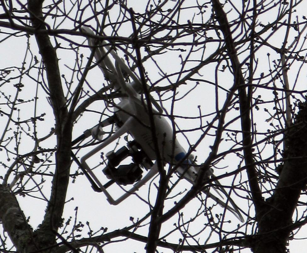 drono iskelimas